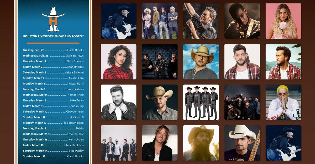 2018 Houston Rodeo Star Entertainer Lineup Myfortbend