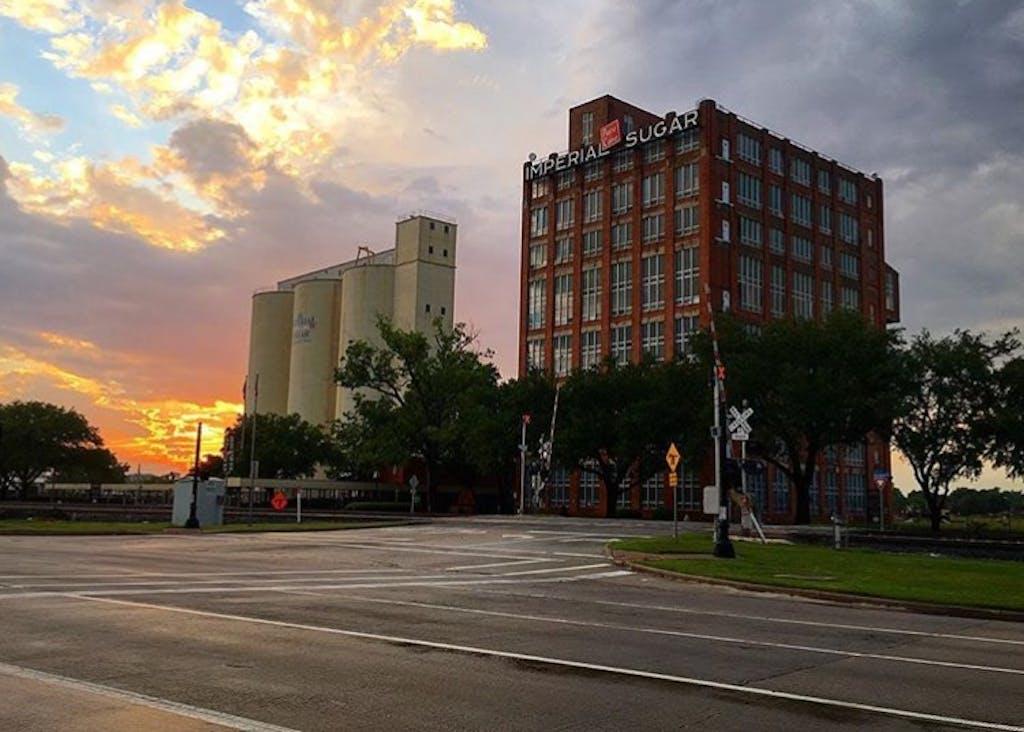 Sugar Land_factory sunset