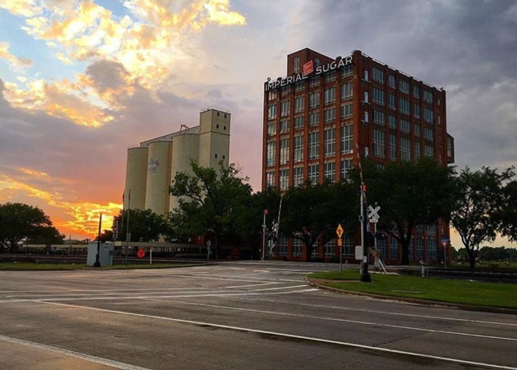Sugar Land_factory sunset