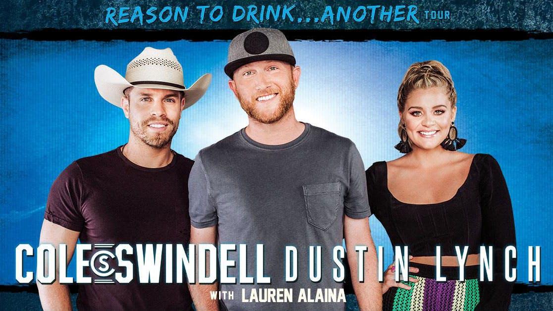 Cole-Swindell-Dustin-Lynch-Lauren-Alaina-sugar-land-texas