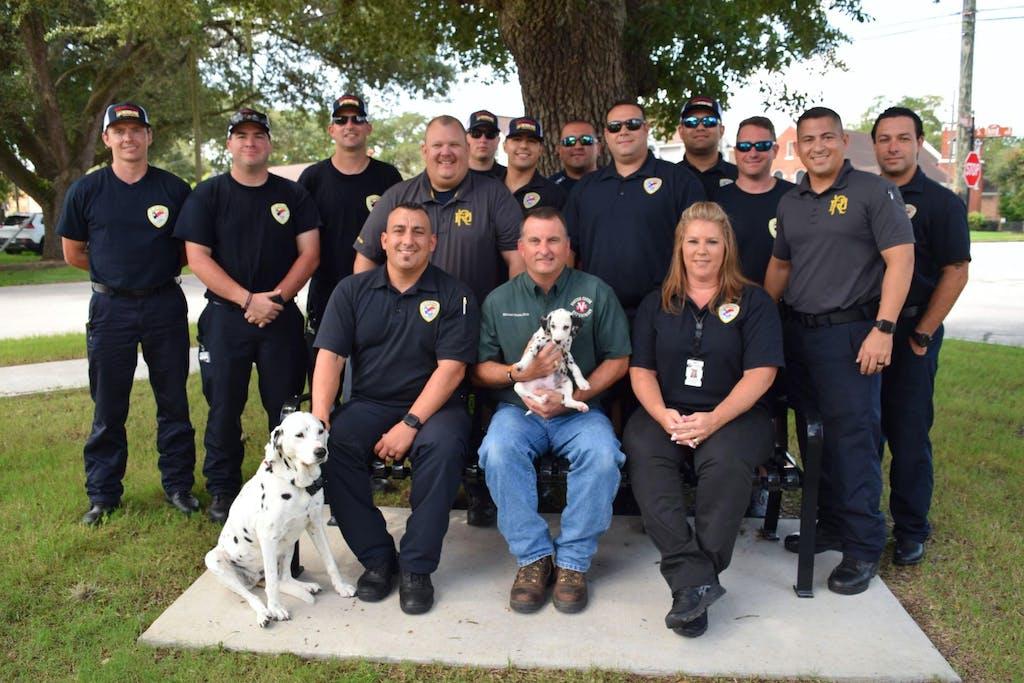 Richmond-Texas-Fire-Department-Receives-New-Mascot-Lady-IV