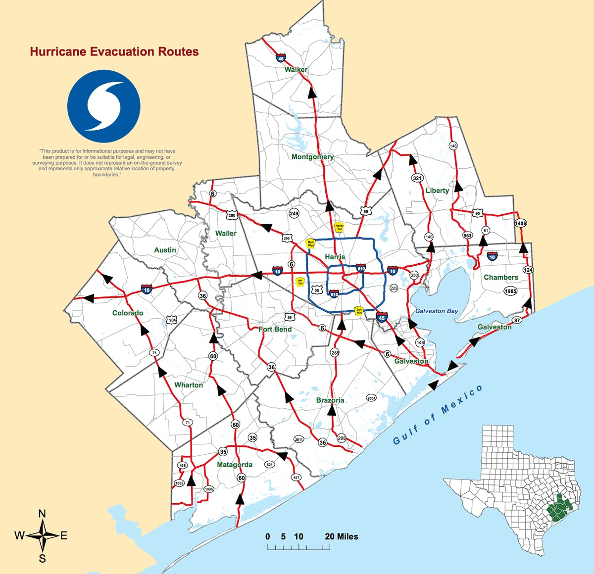 fort-bend-county-emergency-evacuation-routes-map