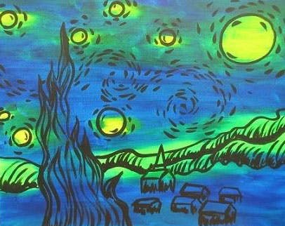 wine-stary-night-painting-richmond-texas