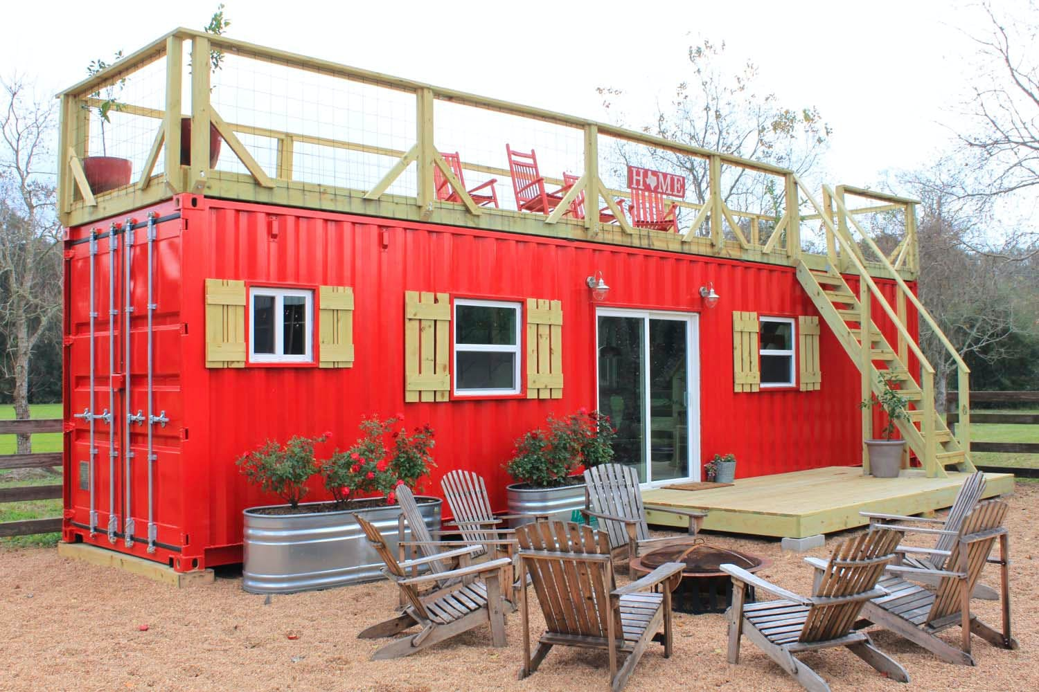 Tiny House In Needville Made From A Shipping Container Is Amazing