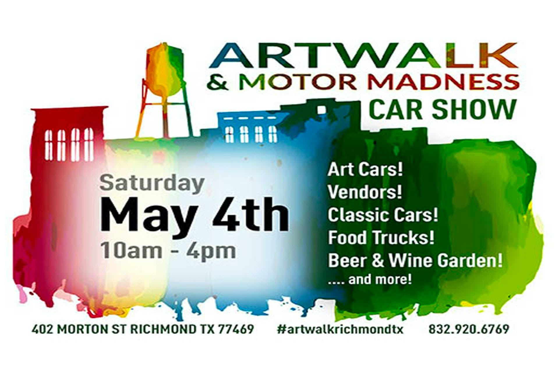 art-walk-and-motor-madness-car-show-richmond-tx